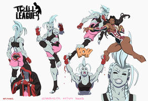 Trill League- Sharkieta action poses