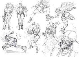 Kinetic Kartel- Sabeya action poses rough by ChaseConley