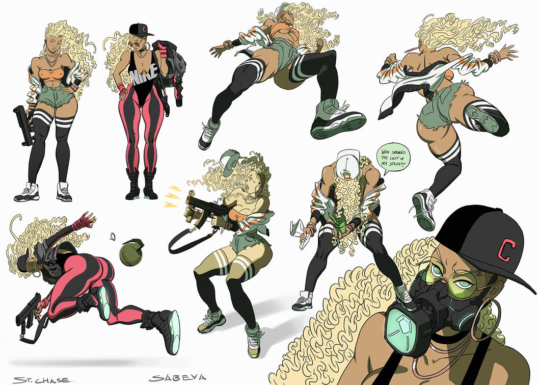 Sabeya Action Poses  COLOR By ChaseConley On DeviantArt