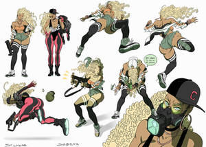 Sabeya action poses -COLOR