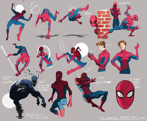 Spiderman Sketches 1 by ChaseConley