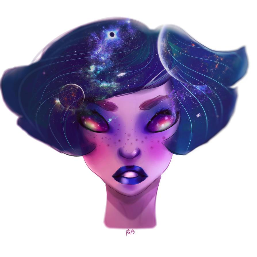 Galaxy girl by afifesayar