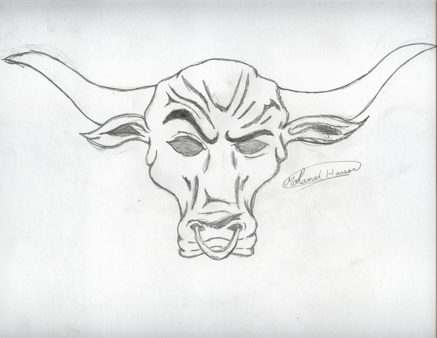 The Rock bull logo by PunkRoXanne
