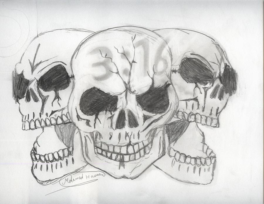 Stone Cold Steve Austin skulls by PunkRoXanne