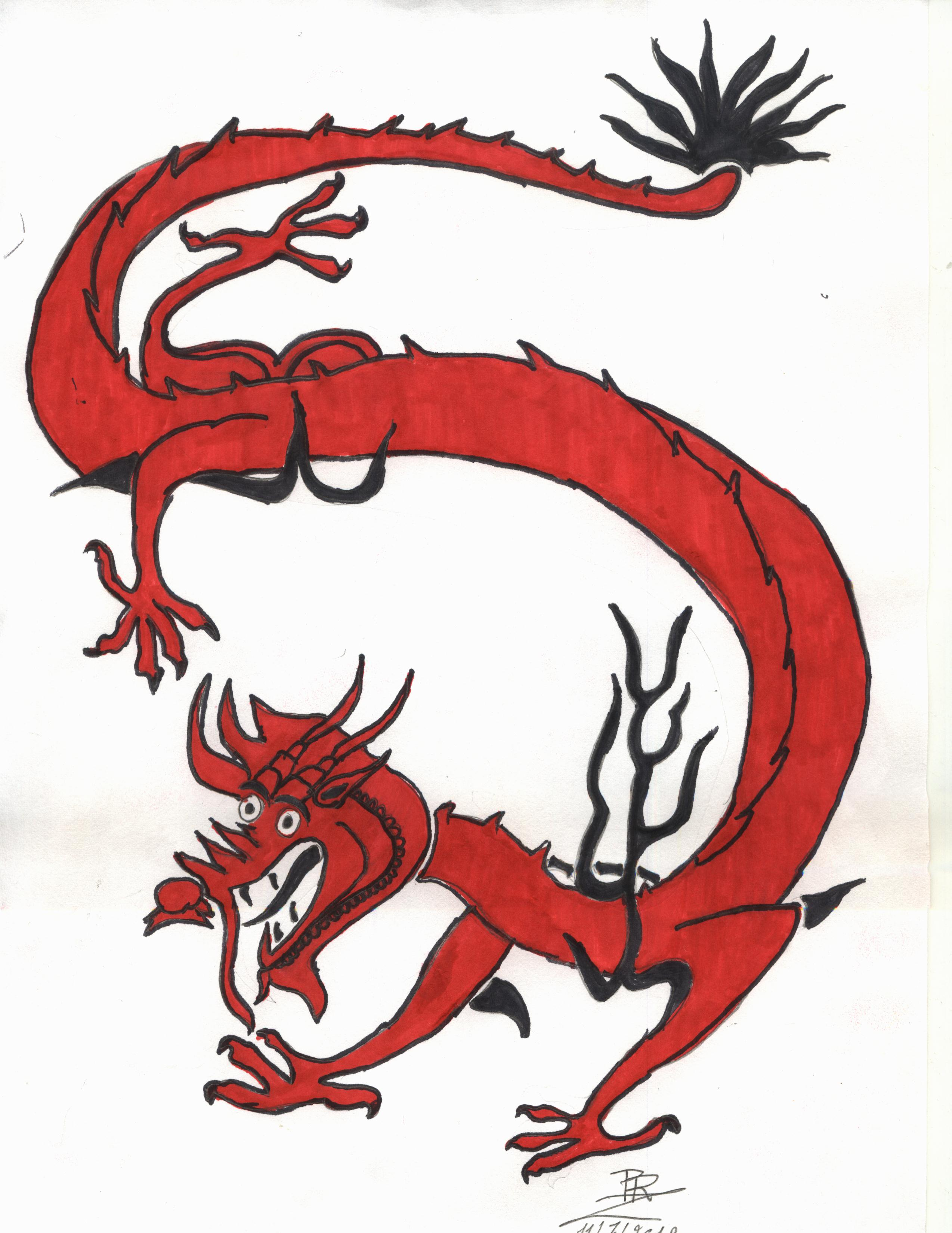 Traditional chinese dragon by PunkRoXanne on DeviantArt