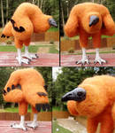 Black Vulture Chick Art Doll Details by DancingVulture