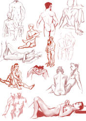 Live Model Drawing Session by Tiamate