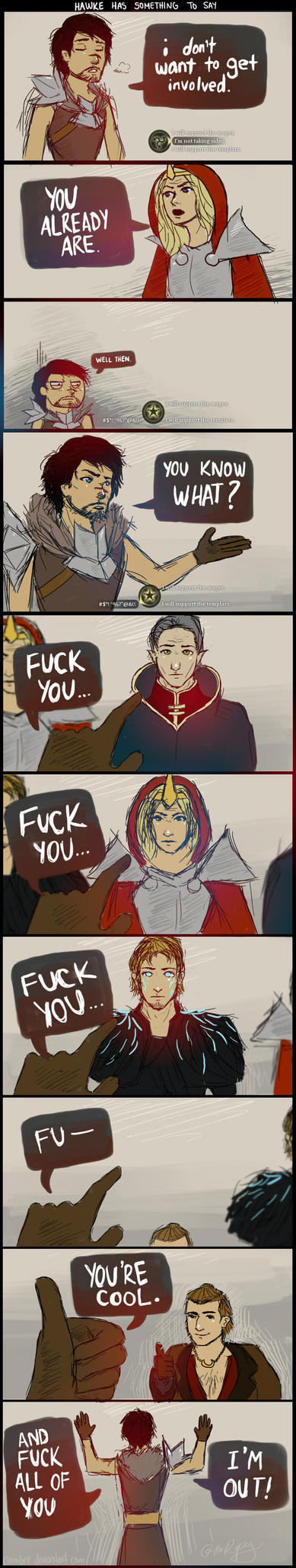 DA2: Hawke has something to say by camibee