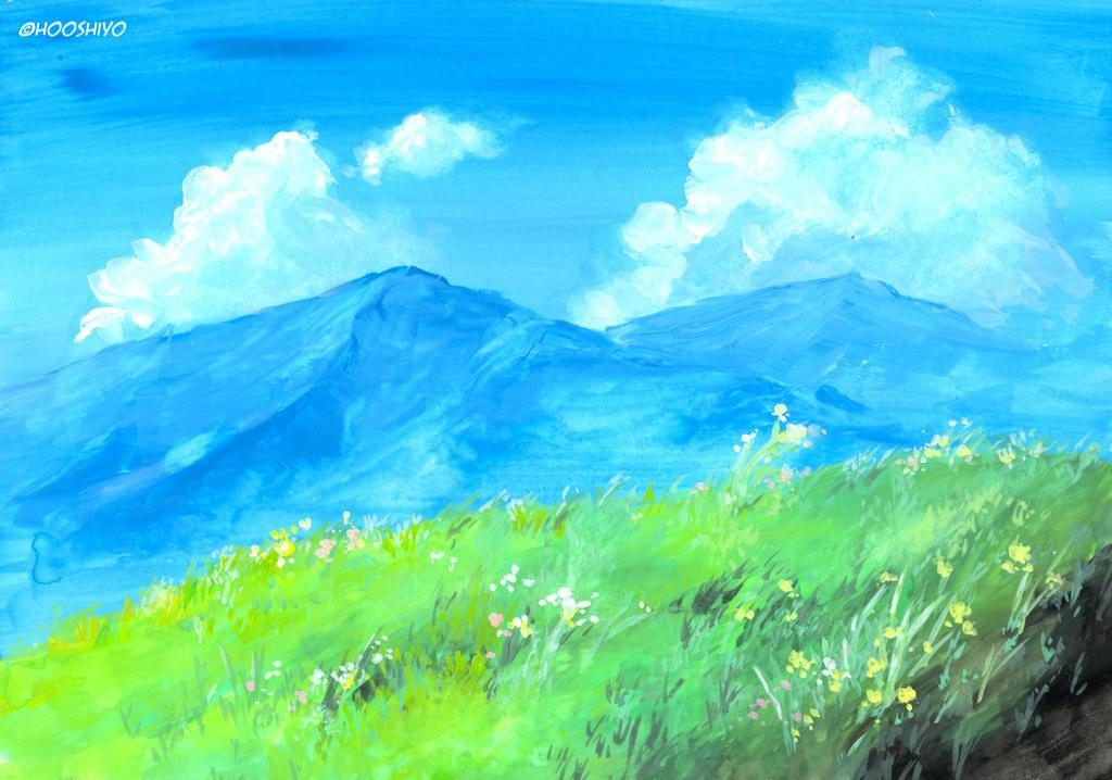 grassland | BG by hooshiyo