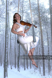 Winter Aerial Violinist