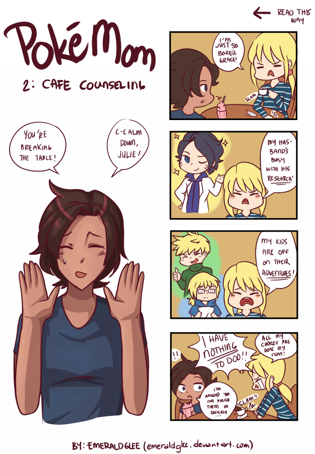 PokeMom 2: Cafe Counseling by AromaLadyEmlee