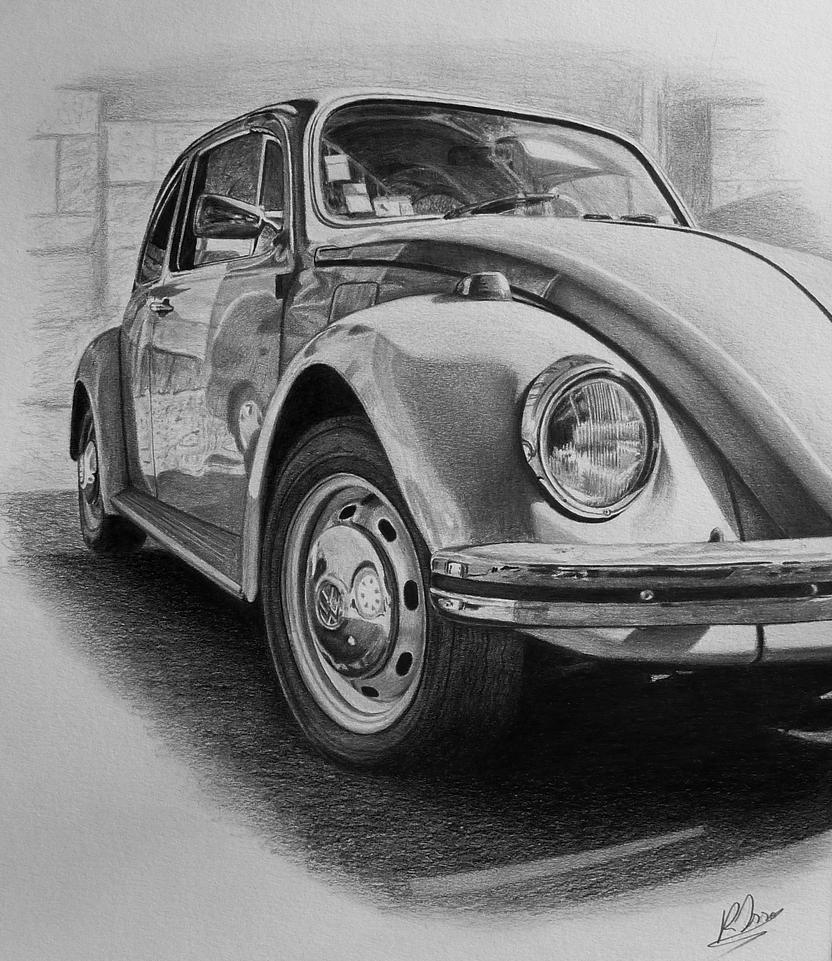 Vw beetle classic drawing