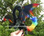 Black Rainbow Little Pet Dragon by Jerseydays