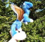Angel Dragon Doll blue brown white