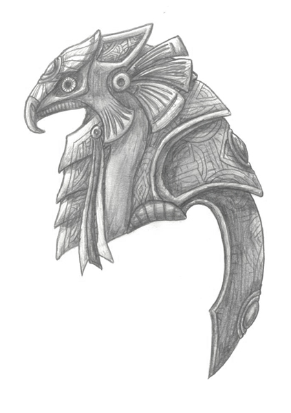 how to draw horus egyptian god
