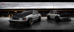 Toyota ae86 levin - Nissan kpgc10