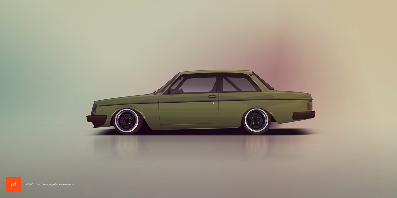 COMMISSION: Volvo 242 by AeroDesign94
