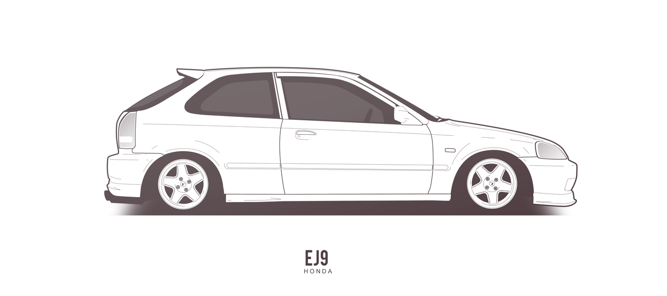 COMMISSION: Honda Civic EJ9 by AeroDesign94 on DeviantArt