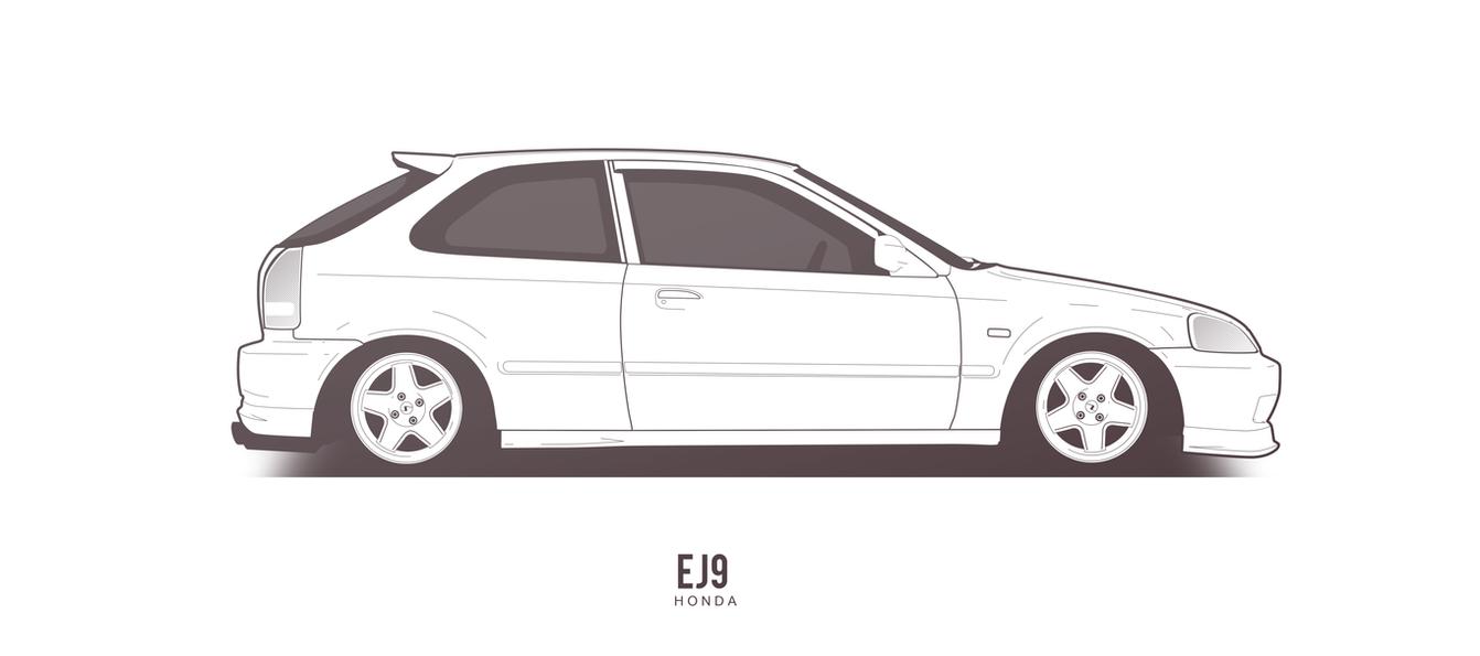 COMMISSION: Honda Civic EJ9 by AeroDesign94 on DeviantArt