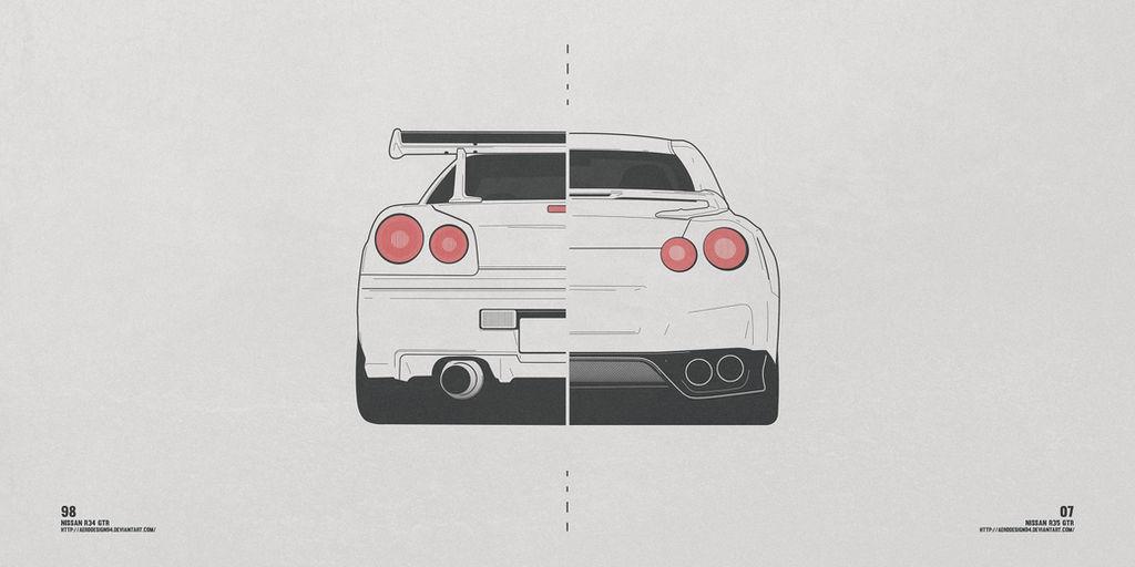 Nissan R34 / R35 by AeroDesign94