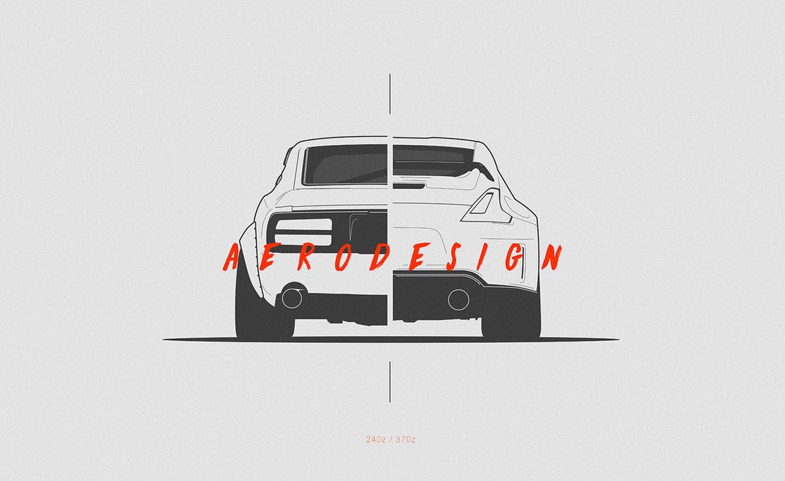 Nissan Z split by AeroDesign94