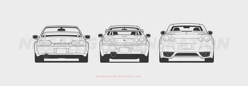 Nissan gtr gen back by AeroDesign94
