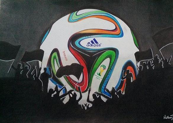 World Cup Brasil 2014 Pintura com lapis de cor by Nathanm4