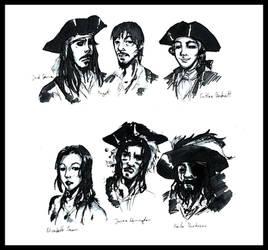 PotC character sketches by ArishiTama