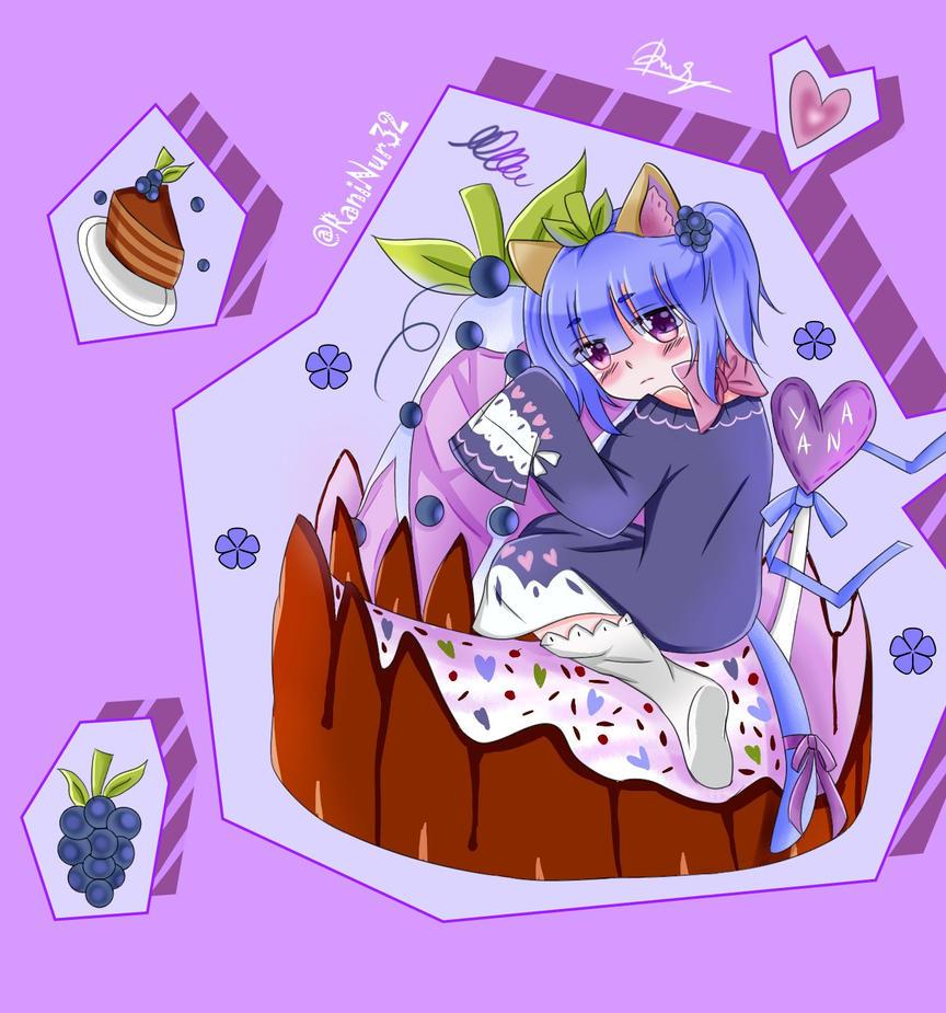Yana Oc by @antay6009 : Blueberry Cupcake by PeachPink7