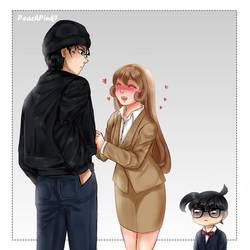 Akai and Yukiko + Conan