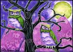 Magic Owl, owls, ACEO, ATC