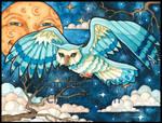 Great Horned Owl Fantasy Art