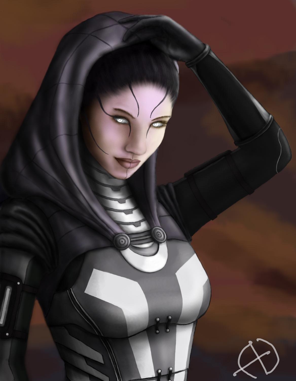 Mass Effect Tali Unmasked Tali'zorah by onelonemadman