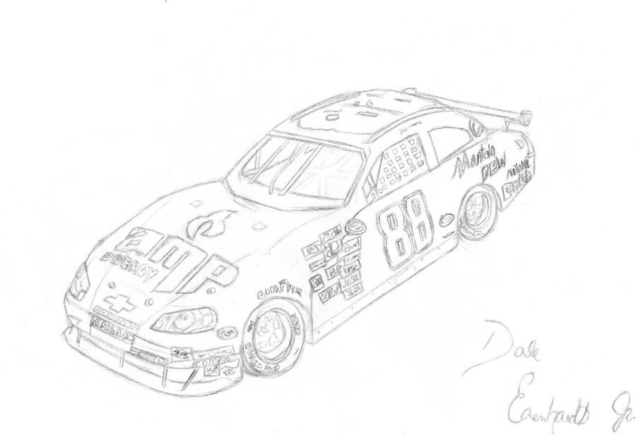 dale earnhardt junior coloring pages - photo#19