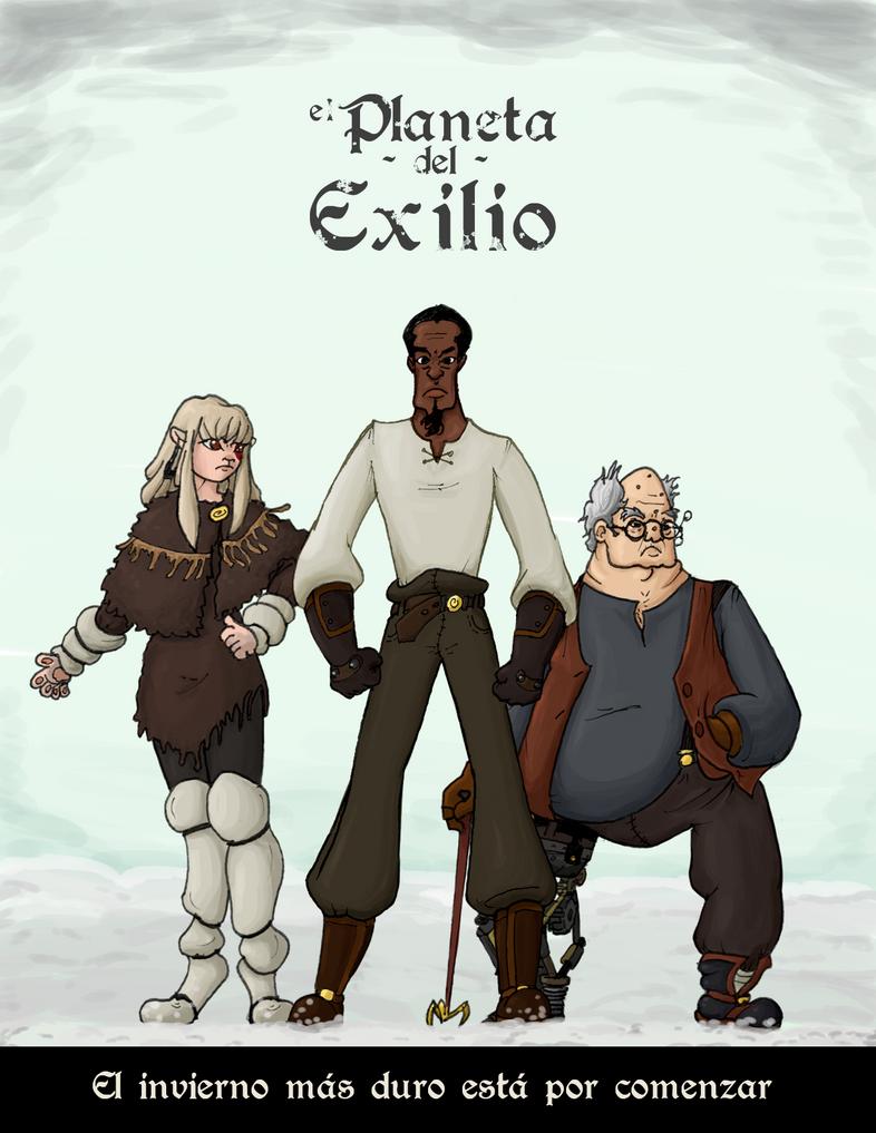El Planeta del Exilio - Afiche by chium