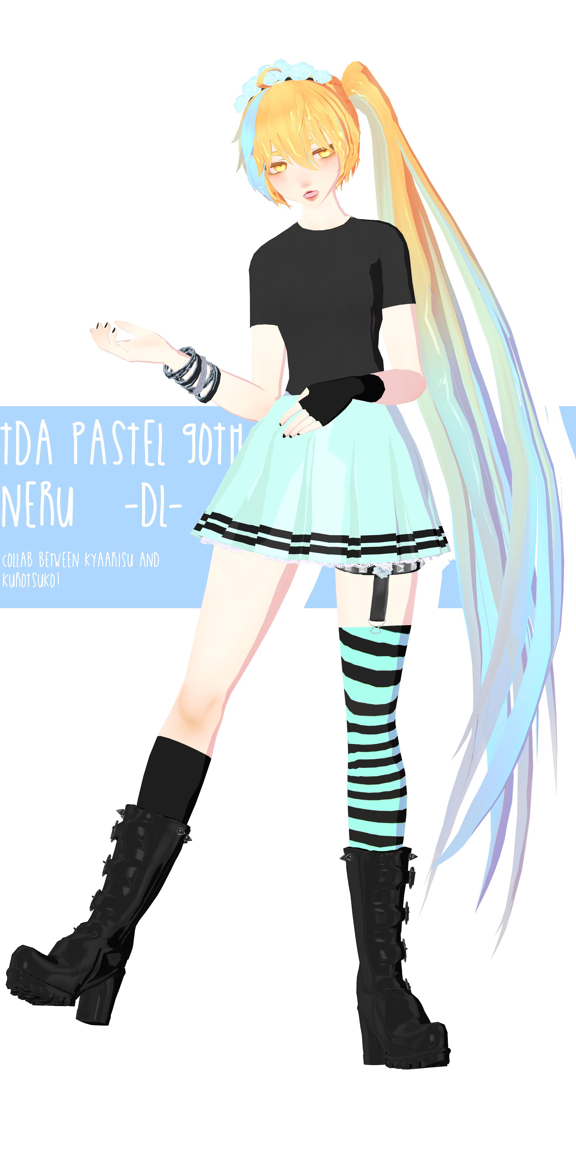 TDA Pastel Goth Gumi DL by PRESTONTHECAT on DeviantArt