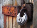 Door and padlock