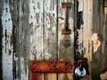 Rust pealing paint new padlock