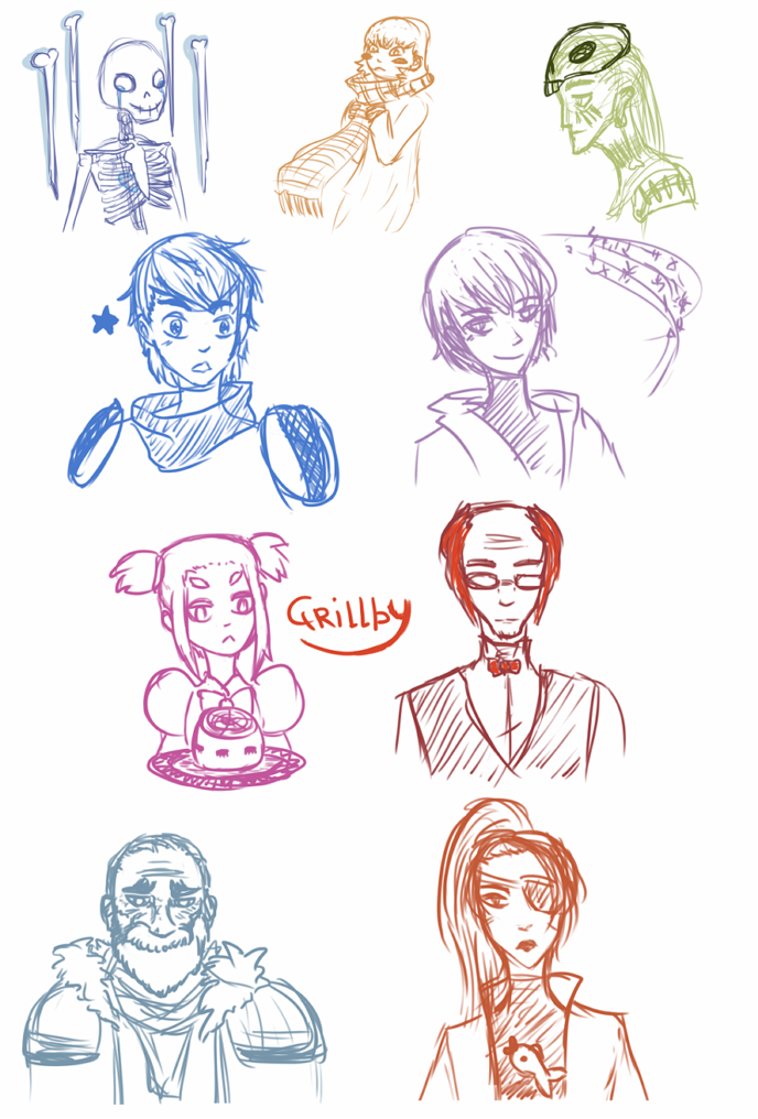 characters (sket4z) by AchromicWhite