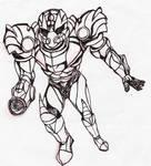 Alex Aran Suit Inked WIP by Megaman1988