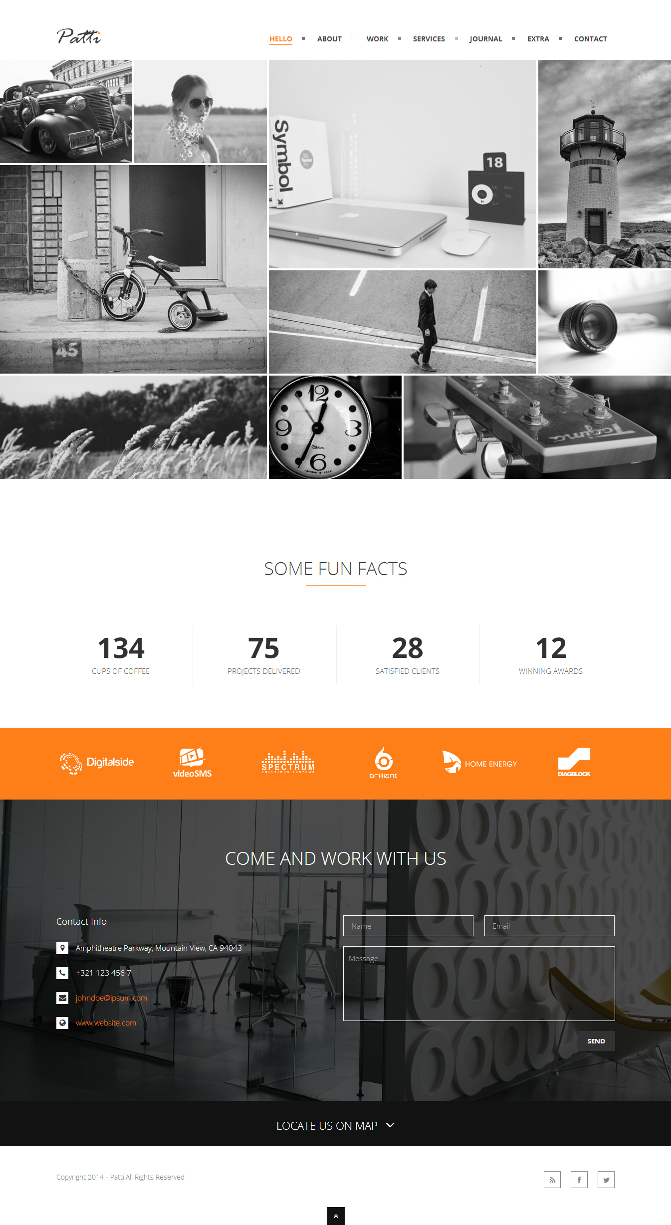 Patti - A One-Page Parallax WordPress Theme by pseudonymus2004