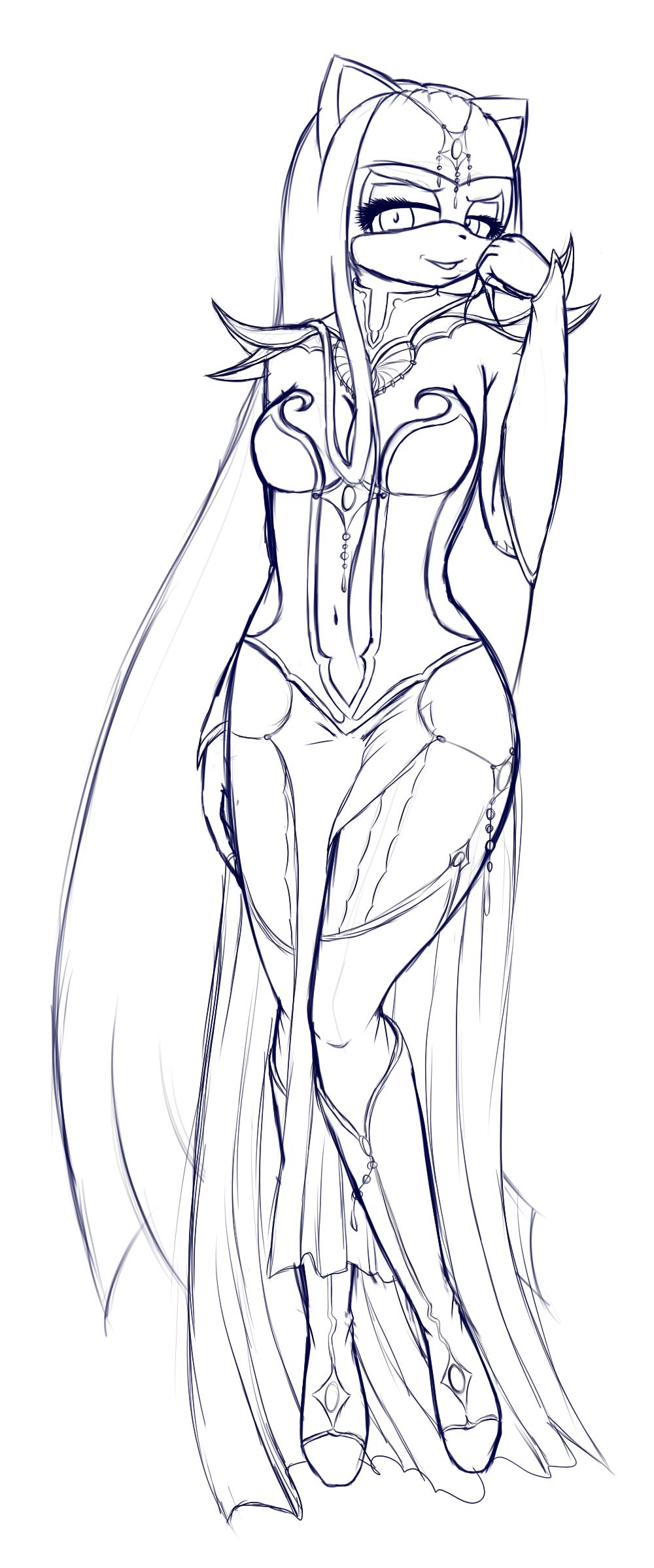 Dark Lady.sketch by Silena-Chaos