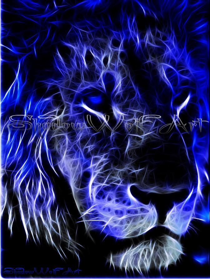 blue fire wolf