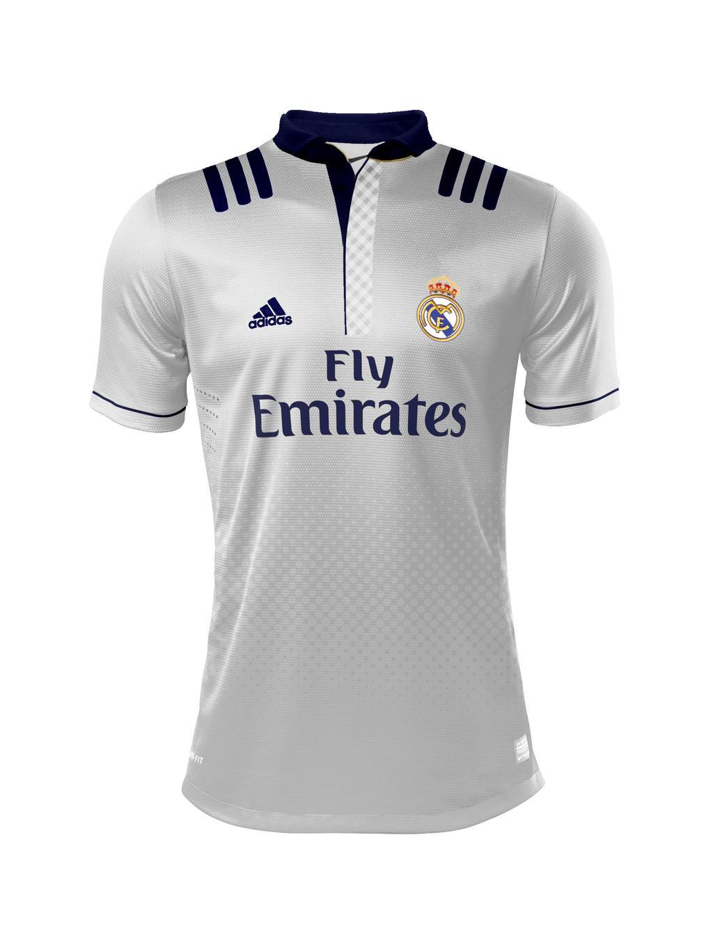Shirt design kit -  Real Madrid White Kit Design By Showbodygame