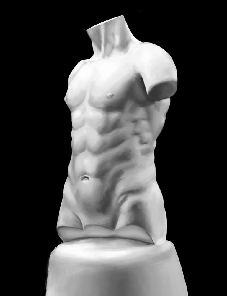 Male anatomy study by Asianhulk7