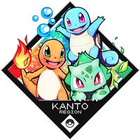 Pokemon - Kanto Starters by Quas-quas