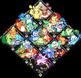 Pokemon Starters v2 by Quas-quas