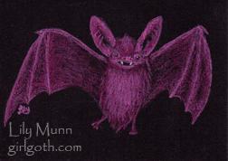 Pink bat - 8/4/13 by Girlgoth
