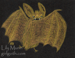 Yellow Bat - 8/8/13 by Girlgoth