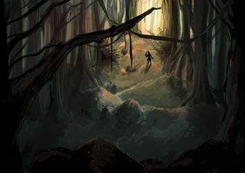 Forest speed painting by beespit